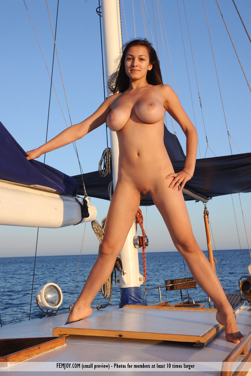 Naked girls on yachts