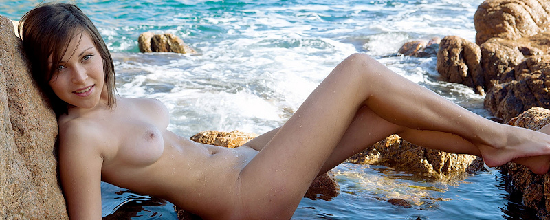 Sophia at the seaside
