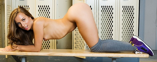 Sophia Sutra in locker room