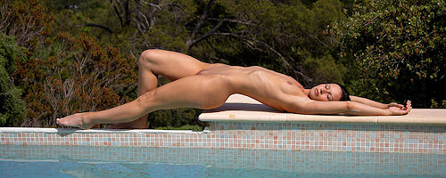 Susana Spears by the pool