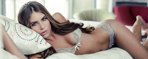 Tierra Lee in lingerie