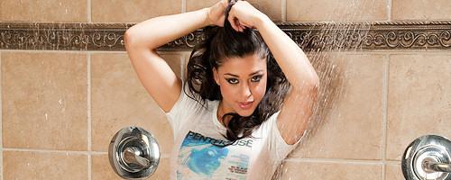 Uma Stone takes a shower
