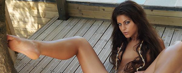 Valentina Rossini nude at the backyard terrace