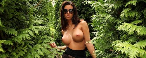 Vanessa in the garden