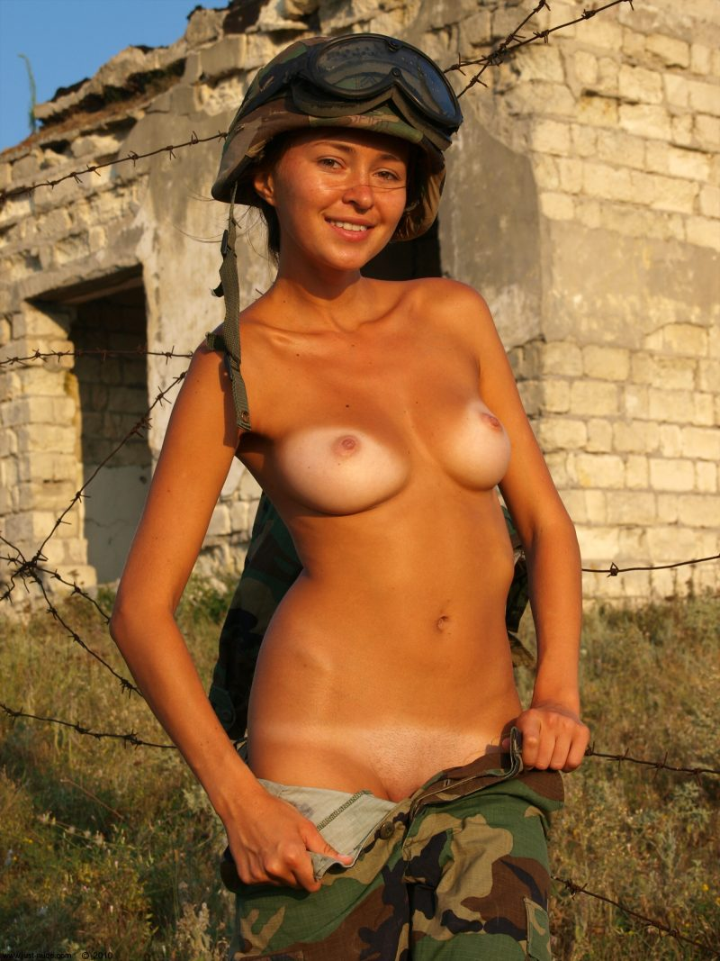 Sexy women naked in military uniform adult gallery