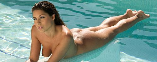 Zafira in the pool