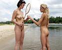 Badminton at the beach