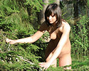 Girl nude in woods