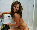 Kimmy in the shower