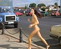 Natasha nude in public