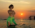 Russian girl on the beach