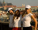 Three girls in Prague