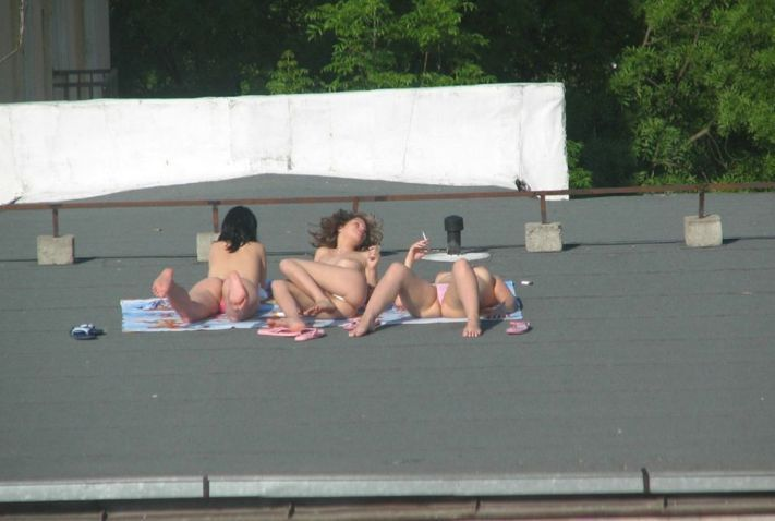 Girls on the roof