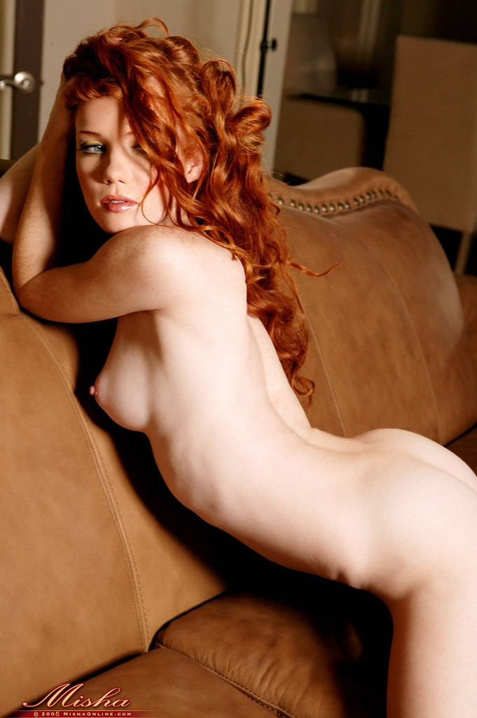Nude red heads on couch was