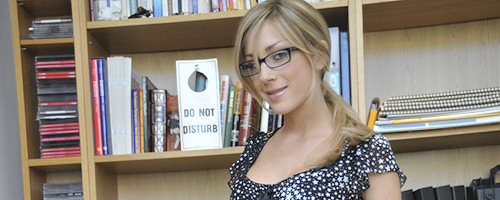 Librarian Julia gets naughty