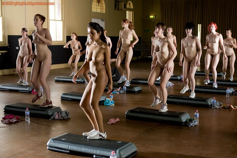 Something is. aerobic class nude absolutely assured
